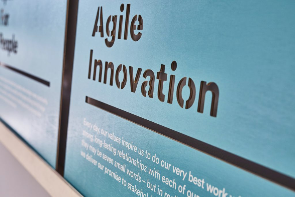 Agile innovation graphic by Hub